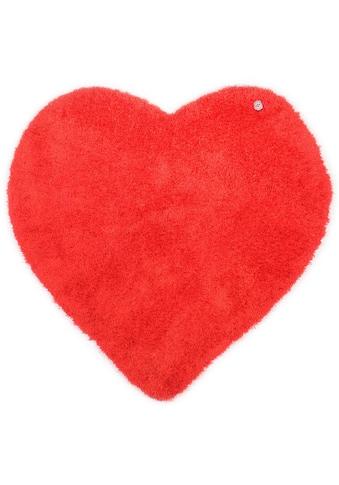 Hochflor - Teppich, »Soft Herz«, TOM TAILOR, herzförmig, Höhe 35 mm, handgetuftet kaufen