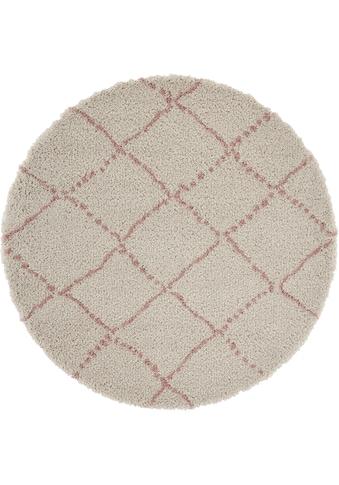 Hochflor - Teppich, »Hash«, MINT RUGS, rund, Höhe 35 mm, maschinell gewebt kaufen