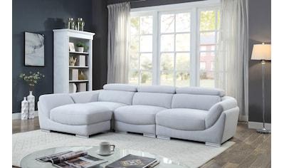 ATLANTIC home collection 3-Sitzer, Hocker als Ecke stellbar kaufen