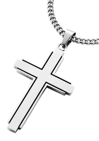 Firetti Kette mit Anhänger »Kreuz, teilweise geschwärzt« acheter