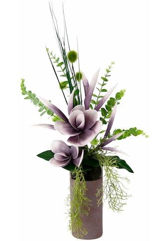 I.GE.A. Kunstpflanze »Arrangement Soft-Magnolie in Vase« kaufen