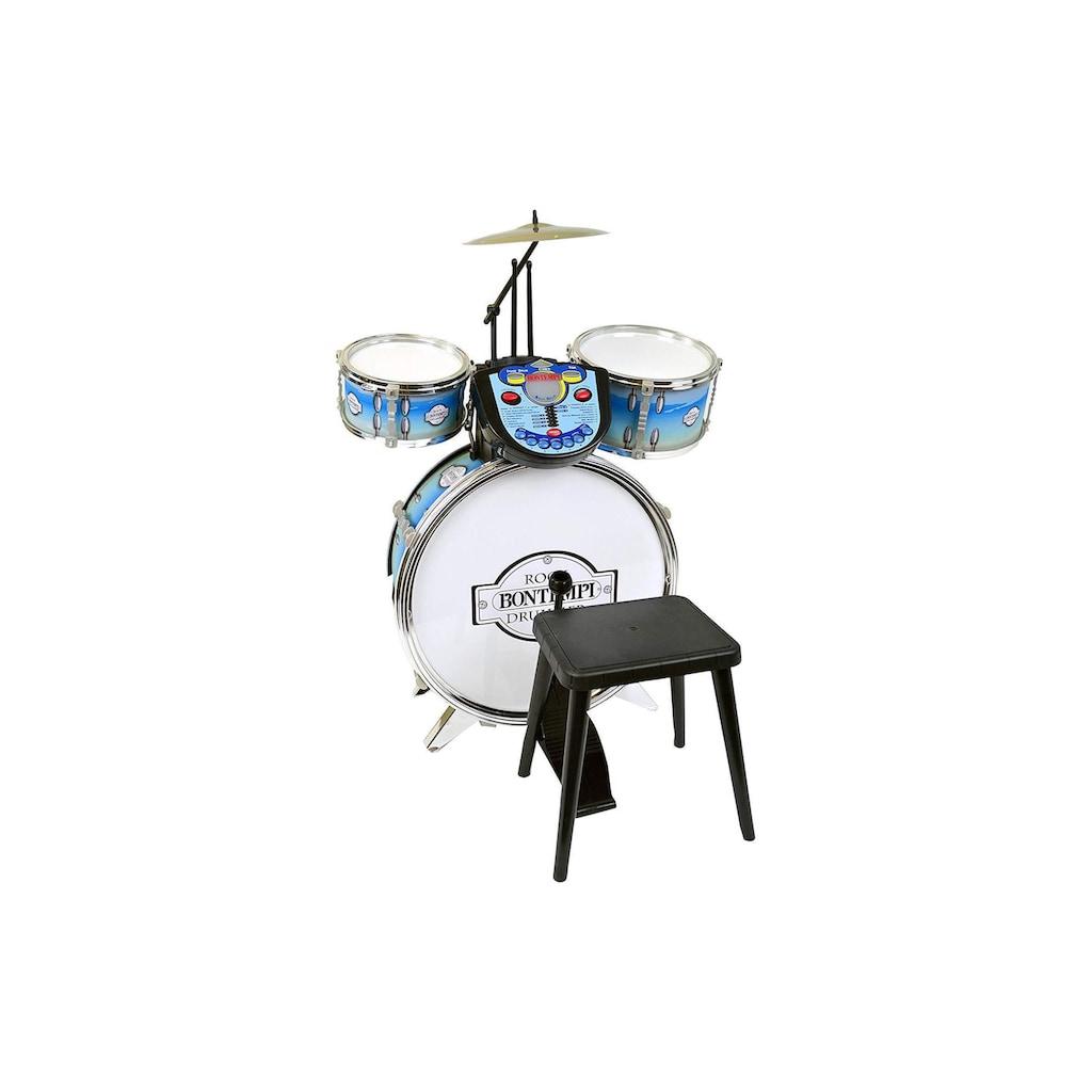 Spielzeug-Musikinstrument »Schlagzeug Silberfarbenfarben Elektronik«