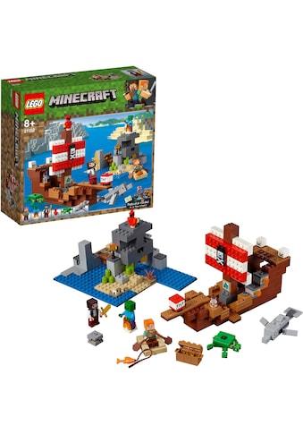 LEGO® Konstruktionsspielsteine »Das Piratenschiff-Abenteuer (21152), LEGO® Minecraft™«, (386 St.), Made in Europe kaufen