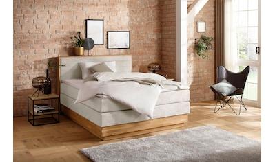 Home affaire Boxspringbett »Cavan«, aus massiver Eiche, inkl. Bettkasten & Topper,... kaufen