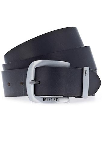MUSTANG Ledergürtel, bis 130 cm, mit charakteristischer Markenprägung kaufen