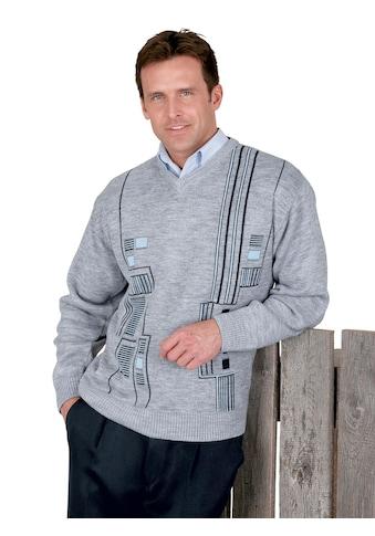 Classic Pullover mit 2 - farbiger Jacquard - Musterung kaufen