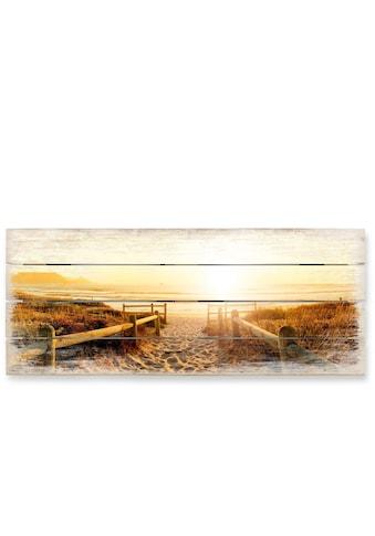 Wall-Art Holzbild »Sonnenuntergang Boho Deko«, (1 St.) kaufen
