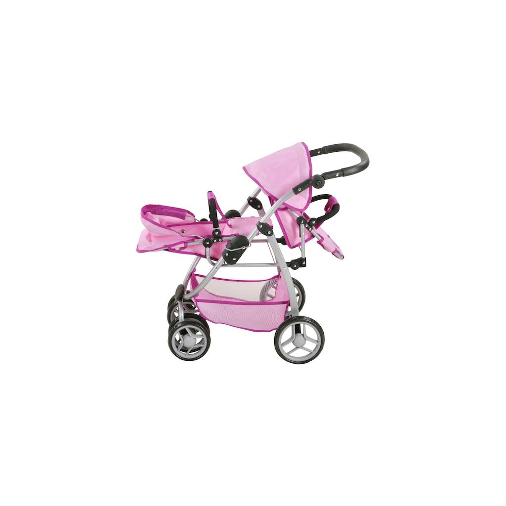 Knorrtoys® Puppenwagen »penwagen Milo UMA das Einhorn«, für Zwillinge