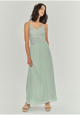 Apricot Maxikleid »Crochet Slub Shimmer Maxi Dress«, mit Crochet-Oberteil kaufen