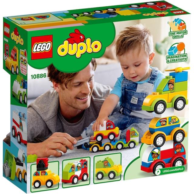 """LEGO® Konstruktionsspielsteine """"Meine ersten Fahrzeuge (10886), LEGO® DUPLO™"""", Kunststoff, (34-tlg.)"""