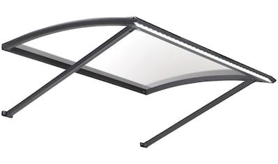 KONIFERA Vordach, schwarz, BxTxH: 120x95x36, aus hochwertigem Aluminium kaufen