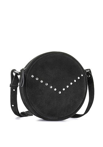 LASCANA Umhängetasche, aus Leder, runde Minibag mit modischen Nieten kaufen
