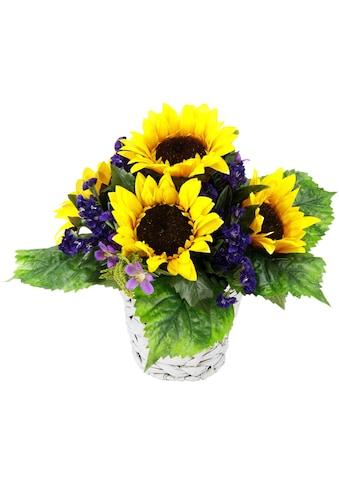 Kunstpflanze »rrangement Sonnenblume in Wasserhyazinthentopf« (1 Stück) kaufen