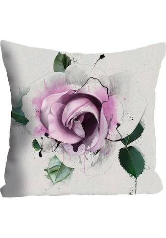 "Kissenhülle ""»rosa Blüte«"" queence kaufen"