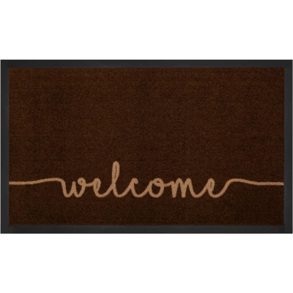 HANSE Home Fussmatte »Cozy Welcome«, rechteckig, 5 mm Höhe, Fussabstreifer, Fussabtreter, Schmutzfangläufer, Schmutzfangmatte, Schmutzfangteppich, Schmutzmatte, Türmatte, Türvorleger, mit Spruch, In- und Outdoor geeignet, waschbar