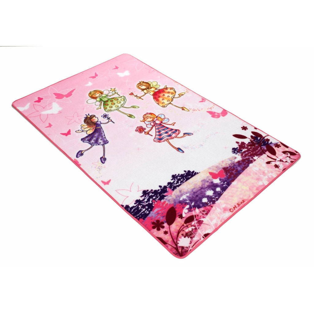 Böing Carpet Kinderteppich »Lovely Kids LK-3«, rechteckig, 2 mm Höhe, Motiv Elfen