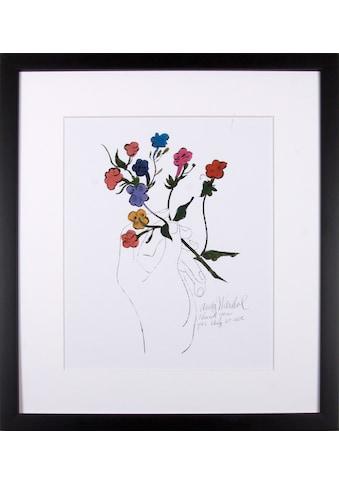 Home affaire Kunstdruck »Bunter Blütenstiel« kaufen