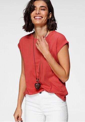 Boysen's T-Shirt, mit überschnittenen Schultern & kleinem Ärmelaufschlag kaufen