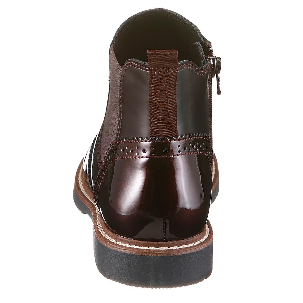 s.Oliver Chelseaboots, mit schöner Lyralochung