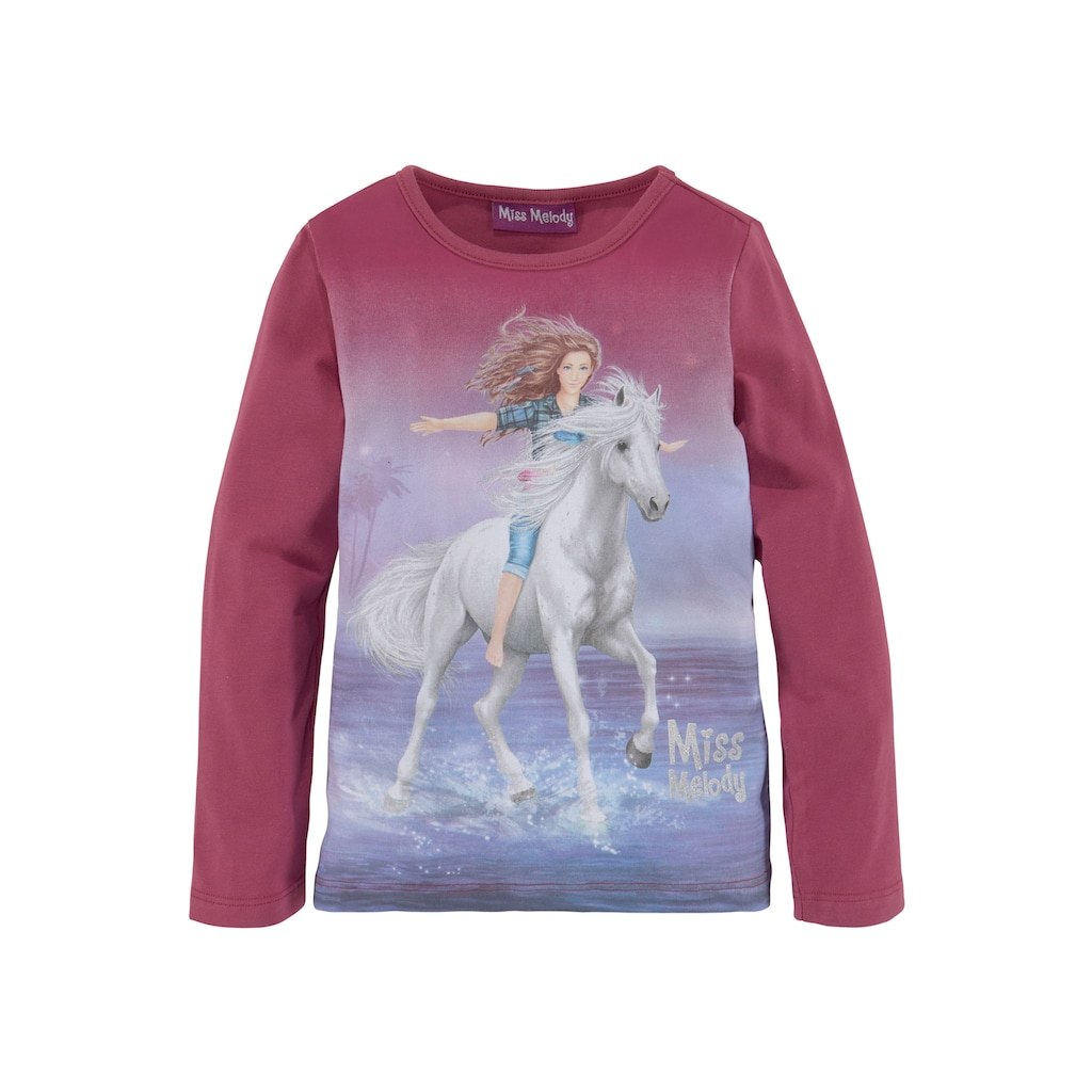 Miss Melody Langarmshirt, mit schönem Pferdemotiv