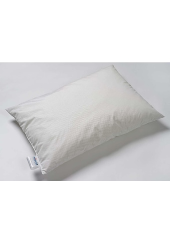 Kyburz Kopfkissen »Clean Silver«, Füllung: PUR-Luftzellenstäbchen und Polyester-Hohlfaserbällchen, Bezug: Mischgewebe (50% Baumwolle, 50% Polyester) mit Silberfaden, (1 St.) kaufen
