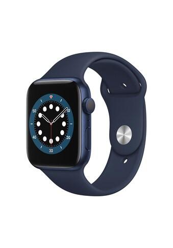 Apple Smartwatch »Serie 6, GPS, 44 mm Aluminium-Gehäuse mit Sportarmband«, (Watch OS... kaufen