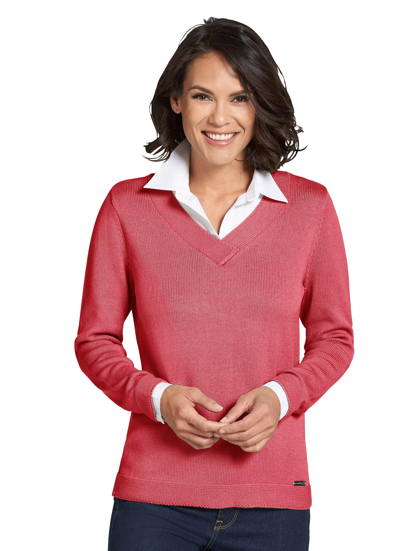 Image of Casual Looks Pullover im 2-in-1-Look