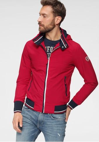TOM TAILOR Polo Team Blouson, mit Streifen in Kontrastfarbe und Logo Badge am Ärmel kaufen