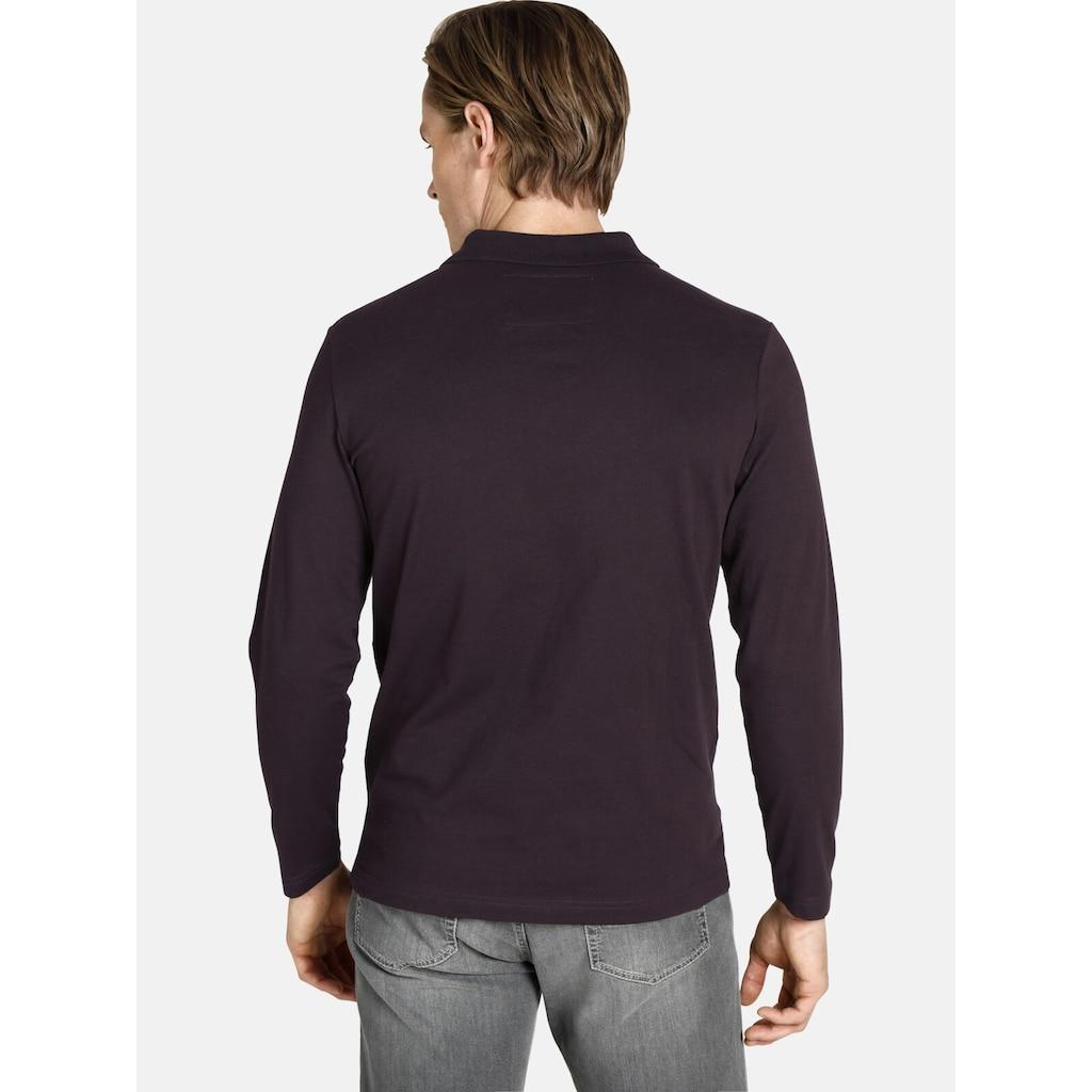Charles Colby Langarm-Poloshirt »DUKE LENN«, aus elastischem Baumwoll-Mix