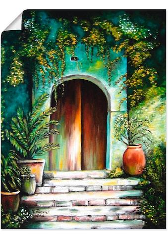 Artland Wandbild »Mediterranes Gartenparadies«, Fenster & Türen, (1 St.), in vielen... kaufen