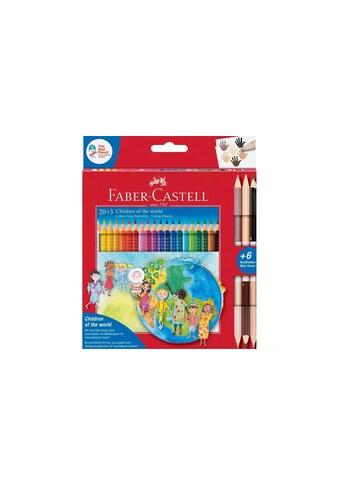 Faber-Castell Buntstift »Colour Gri«, Auswaschbar aus Textilien, Bruchsicher,... kaufen