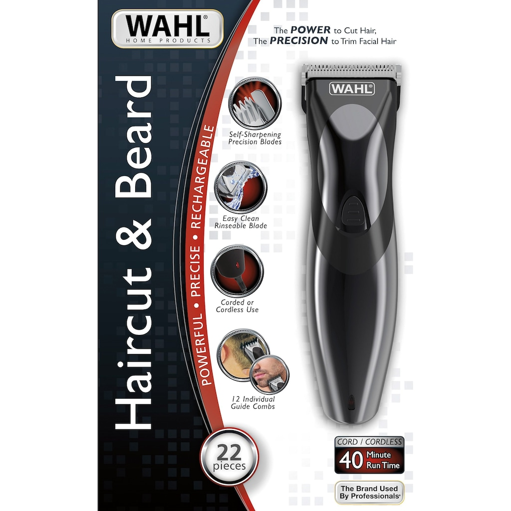 Wahl Haar- und Bartschneider »9639-816 Haircut & Beard«, 12 Aufsätze, präzisiongeschliffener und abwaschbarer Schneidsatz