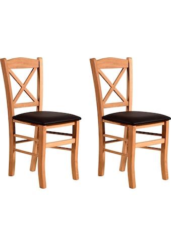 Home affaire Esszimmerstuhl »Clayton«, mit Gestell aus Massivholz kaufen
