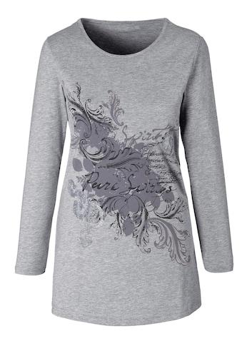 Classic Basics Longshirt mit edlem, silberfarben glitzerndem Print kaufen