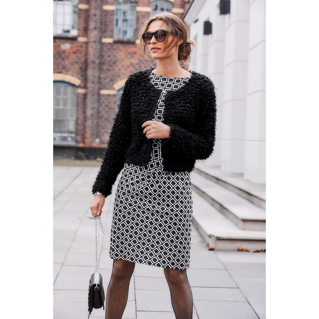 Aniston SELECTED Bolero, aus weichem Effektgarn