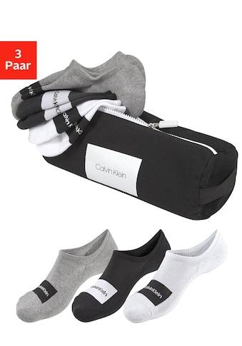 Calvin Klein Sneakersocken, (Beutel, 3 Paar), mit Markenschriftzug kaufen