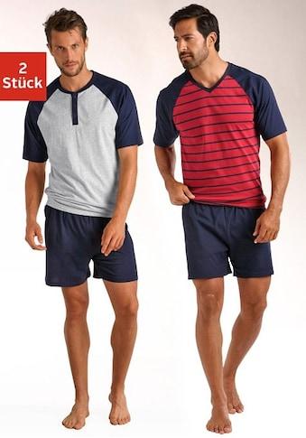 le jogger® Shorty, (2 Stück), in kurzer Form, mit Raglanärmeln kaufen