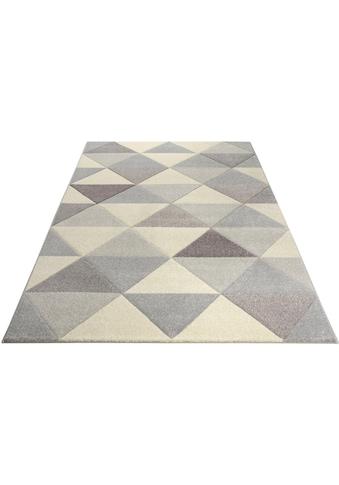 Bruno Banani Teppich »Berlad«, rechteckig, 13 mm Höhe, Handgearbeitet, Konturenschnitt, Wohnzimmer kaufen