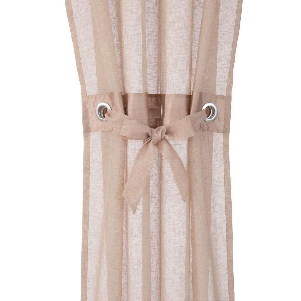 my home Gardine »Willow«, Vorhang, Fertiggardine, inkl. Raffhalter, halbtransparent