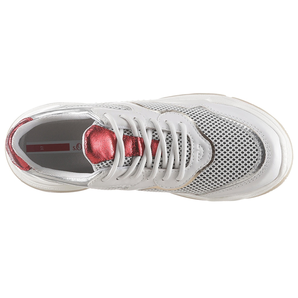 s.Oliver Plateausneaker, mit Metallicdetails