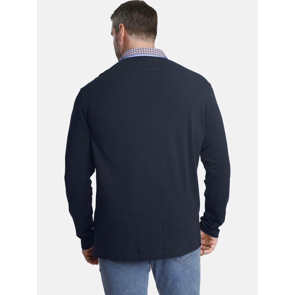 Charles Colby Langarm-Poloshirt »EARL CHAD«, mit doppeltem Kragen