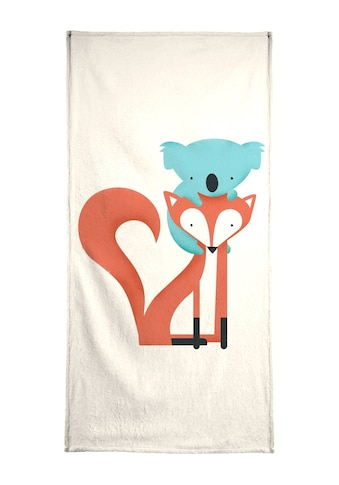 "Handtuch ""Fox and Koala"", Juniqe kaufen"