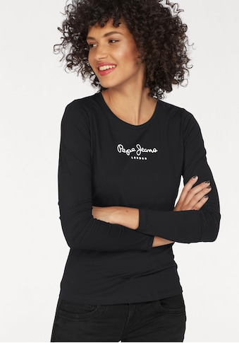 Pepe Jeans Langarmshirt »NEW VIRGINA L/S«, mit Logo-Print kaufen