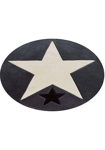 Rock STAR Baby Kinderteppich »707«, rund, 10 mm Höhe, handgearbeiteter... kaufen
