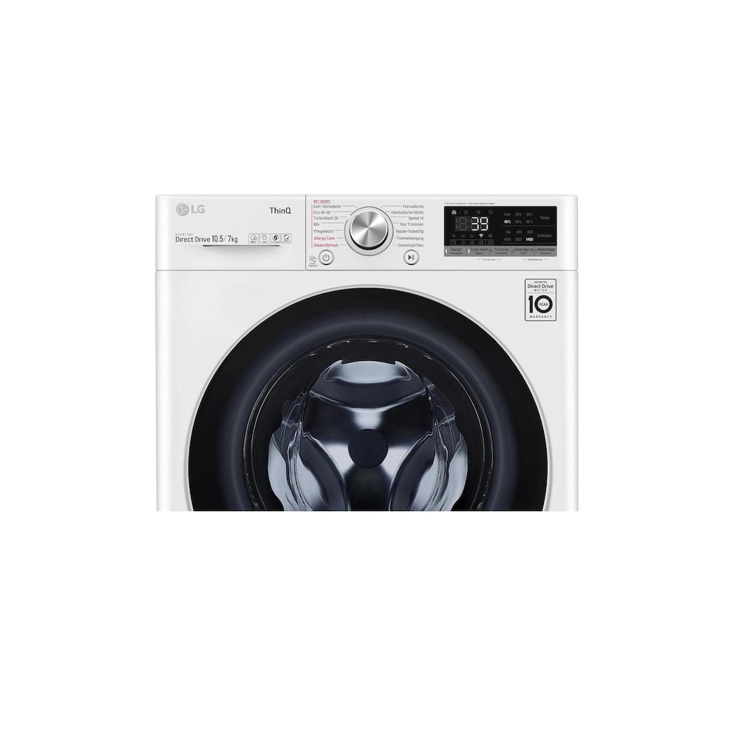 LG Waschtrockner »V7WD107H2E 10,5 kg / 7 kg A«