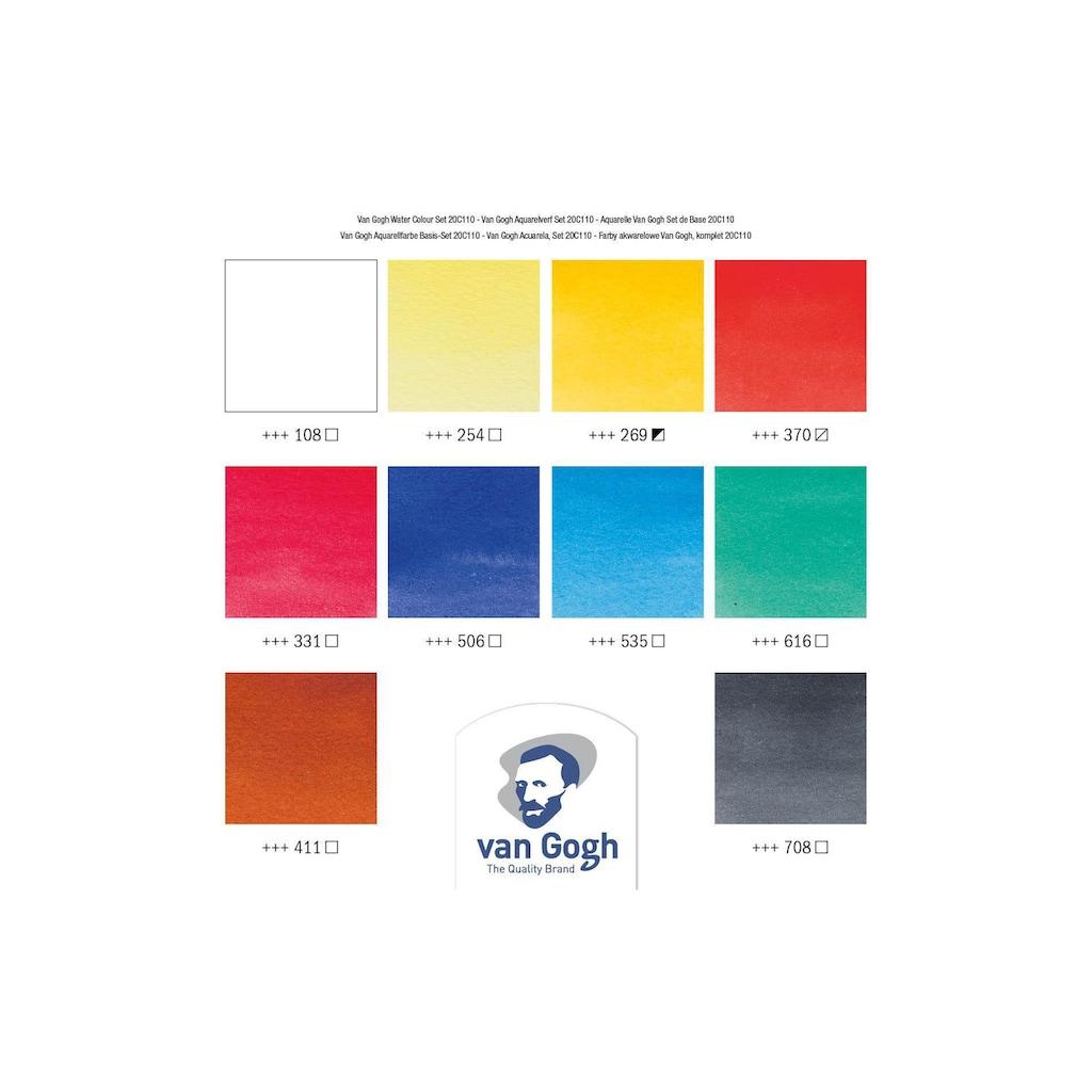 Aquarellfarbe »Basis-Set, 10 ml, Mehrfarbig«