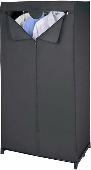 wenko kleiderschrank deep black auf rechnung kaufen. Black Bedroom Furniture Sets. Home Design Ideas