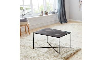andas Couchtisch »Alina«, mit schönem Marmorprint auf der matten Glasplatte und einem Metallgestell kaufen