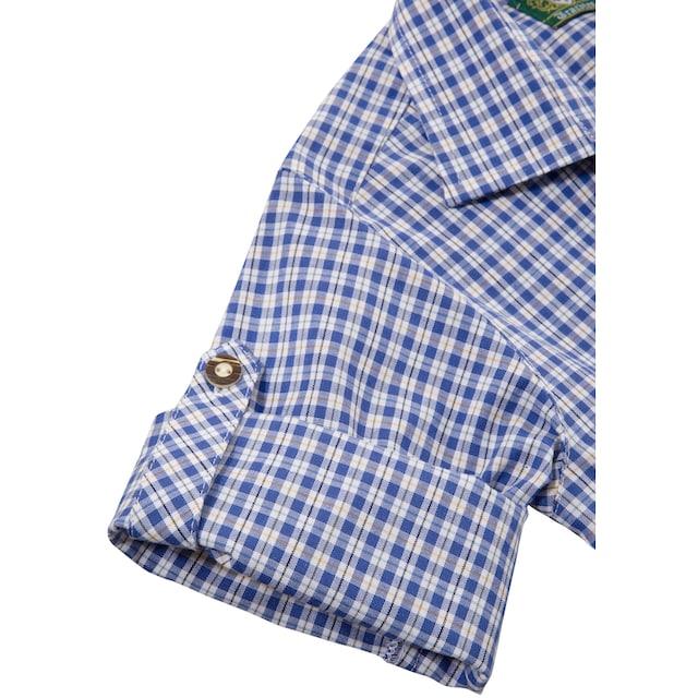 OS-Trachten Trachtenhemd Kinder in moderner Karo-Optik