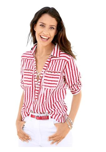 Inspirationen Bluse mit trendigen Streifen Dessin kaufen